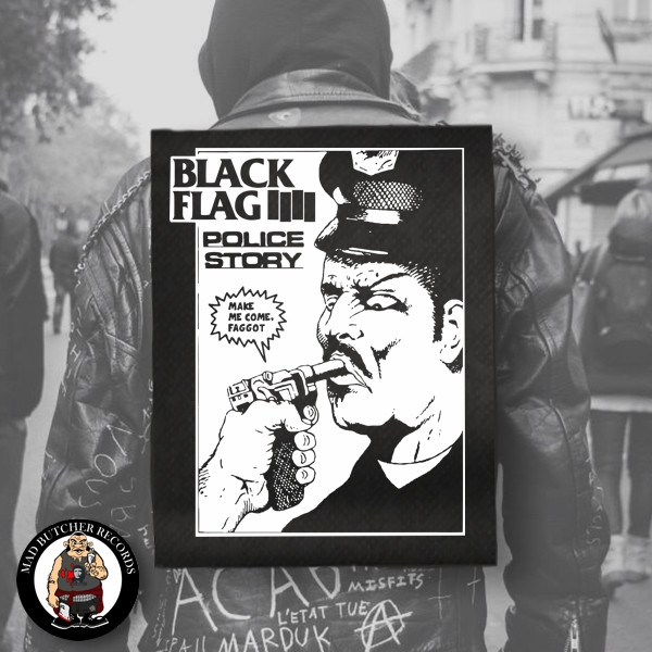 BLACK FLAG POLICE STORY BACK PATCH