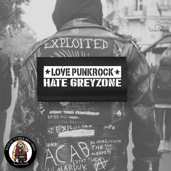 LOVE PUNKROCK HATE GREYZONE BACK PATCH