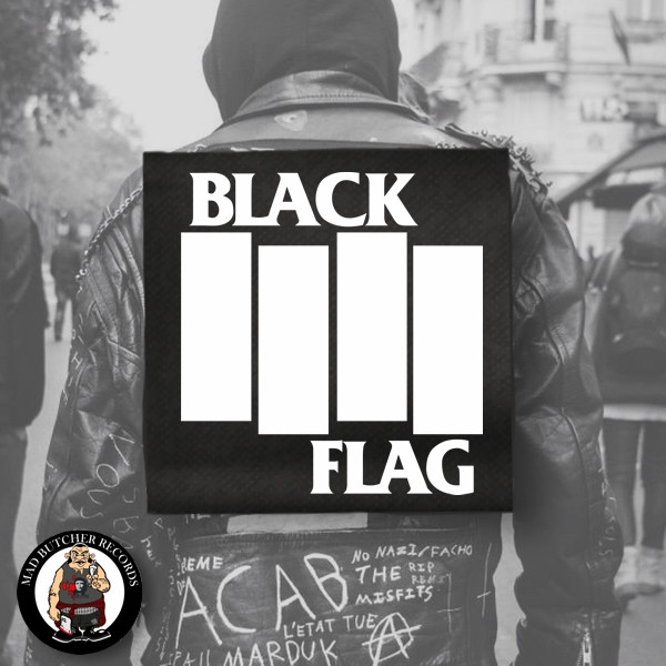 BLACK FLAG LOGO BIG BACK PATCH