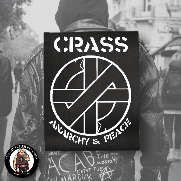 CRASS ANARCHY & PEACE BACK PATCH