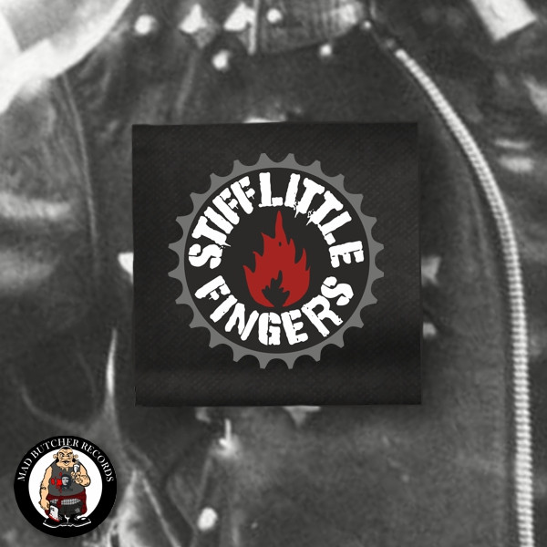 STIFF LITTLE FINGERS FLAME PATCH