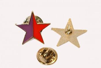 STAR RED/PURPLE METALPIN