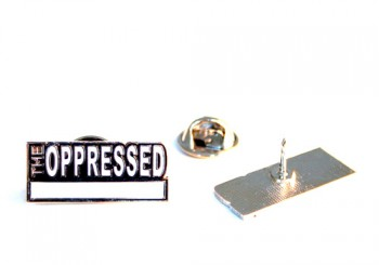 OPPRRESSED white METALPIN