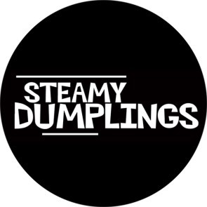 STEAMY DUMPLINGS LOGO b/w