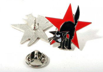 RED CAT PIN