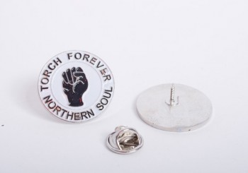 NORTHERN SOUL TORCH FOREVER PIN