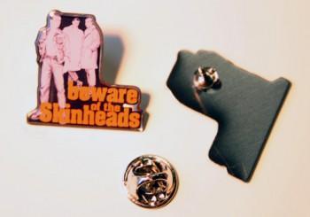 BEWARE OF THE SKINHEADS PIN