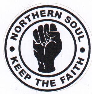 NORTHERN SOUL KEEP THE FAITH PVC AUFKLEBER