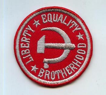 LIBERTY,EQALITY,BROTHERHOOD PATCH