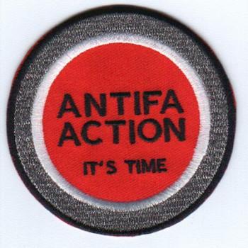 ANTIFA ACTION ITŽS TIME PATCH