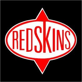 PVC-Aufkleber \'Redskins - rechteckig\'