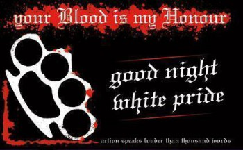 GOOD NIGHT WHITE PRIDE STICKER (10 STÜCK)