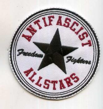 ANTIFASCIST ALLSTARS PATCH black