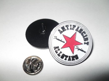 ANTIFASCIST ALLSTARS PIN red