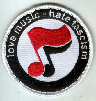 LOVE MUSIC HATE FASCISM NOTES PATCH
