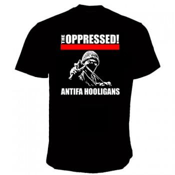 OPPRESSED ANTIFA HOOLIGAN T-SHIRT SCHWARZ / 3XL