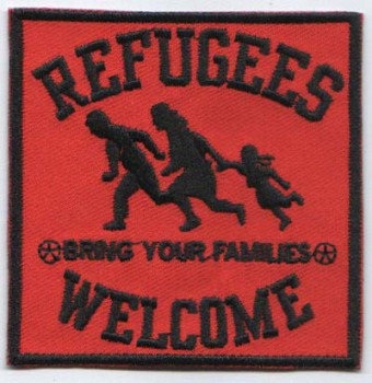 REFUGEES WELCOME BLACK PATCH