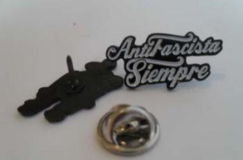 ANTIFASCISTA SIEMPRE WHITE PIN