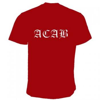 ACAB T-SHIRT WEINROT