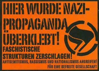 NAZISCHEISSE ÜBERKLEBEN AUFKLEBER (10 STÜCK)