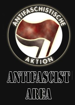 ANTIFASCIST AREA STICKER (10 STÜCK)