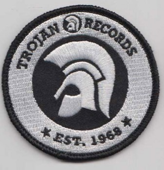 TROJAN RECORDS SINCE 1968 PATCH (WHITE)