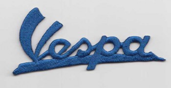 VESPA LOGO SCHRIFT PATCH BLUE