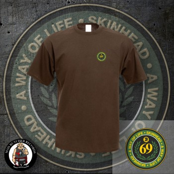 SKINHEAD A WAY OF LIFE LOGO SMALL T-SHIRT M / BRAUN
