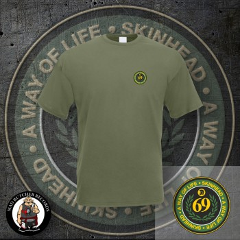 SKINHEAD A WAY OF LIFE LOGO SMALL T-SHIRT M / OLIVE
