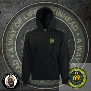 SKINHEAD A WAY OF LIFE LOGO SMALL ZIPPER L