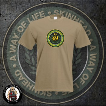 SKINHEAD A WAY OF LIFE T-SHIRT M / BEIGE