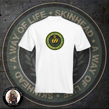 SKINHEAD A WAY OF LIFE T-SHIRT M / WEISS