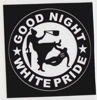 GOOD NIGHT WHITE PRIDE OMA PVC AUFKLEBER