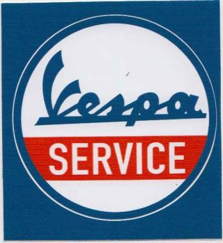 VESPA SERVICE PVC AUFKLEBER