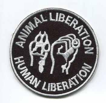 ANIMAL LIBERATION BLACK PATCH
