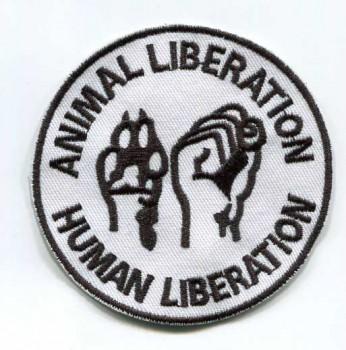 ANIMAL LIBERATION WHITE PATCH