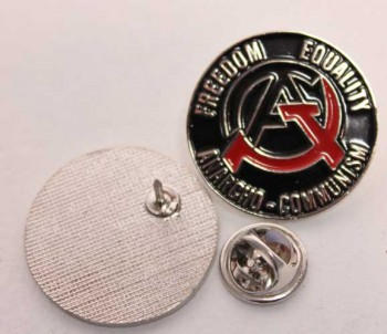 FREEDOM EQUALITY ANARCHO COMMUNISM PIN