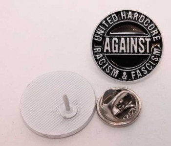 HARDCORE AGAINST RACISM PIN