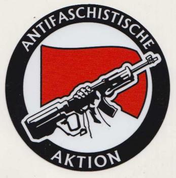 ANTIFASCHISTISCHE AKTION PVC AUFKLEBER