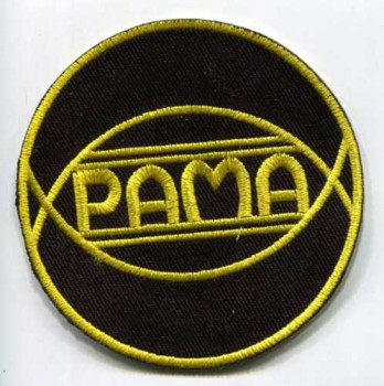 PAMA RECORDS GELB PATCH