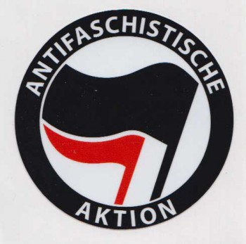 ANTIFASCHISTISCHE AKTION LOGO PVC STICKER