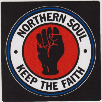 NORTHERN SOUL KEEP THE FAITH PVC STICKER