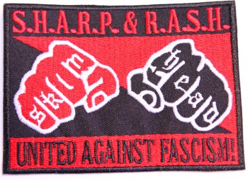 SHARP & RASH UNITED AGAINST RACISM PATCH