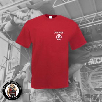 7 SECONDS LOGO SMALL T-SHIRT L / ROT