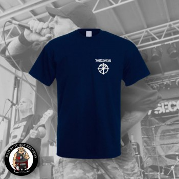 7 SECONDS LOGO SMALL T-SHIRT L / NAVY