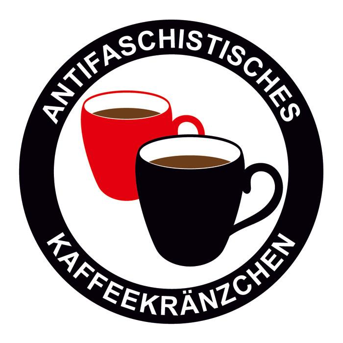 ANTIFASCHISTISCHES KAFFEEKRÄNZCHEN PVC STICKER