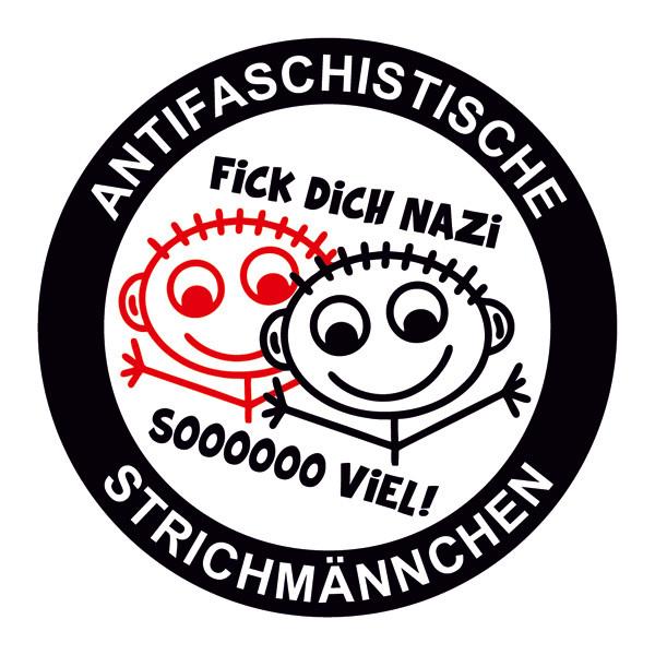 ANTIFASCHISTISCHE STRICHMÄNNCHEN PVC STICKER