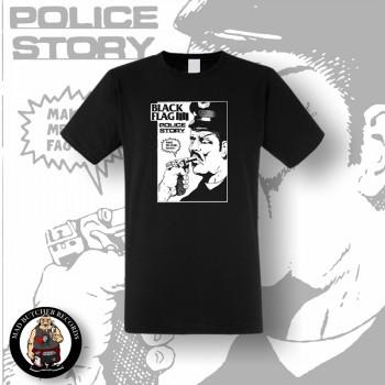 BLACK FLAG POLICE STORY T-SHIRT SCHWARZ / L