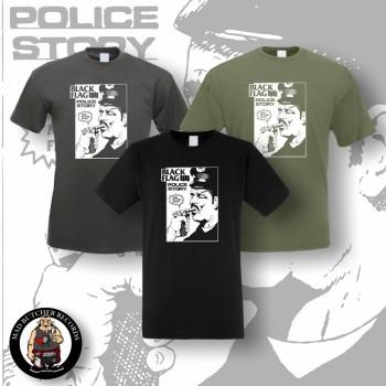 BLACK FLAG POLICE STORY T-SHIRT