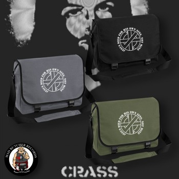 CRASS JESUS DIED FOR HIS OWN SINS MESSENGER BAG
